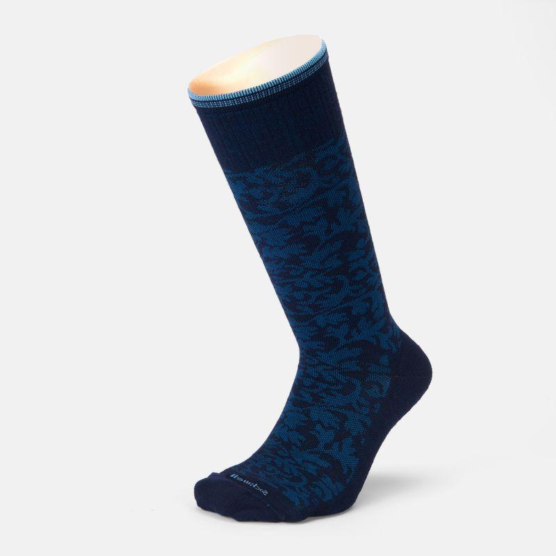 Compression stocking women Damask - blau